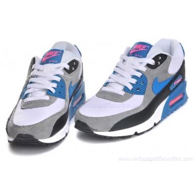 air max 90 azules y grises