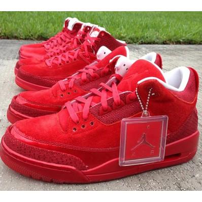 basket air jordan rouge
