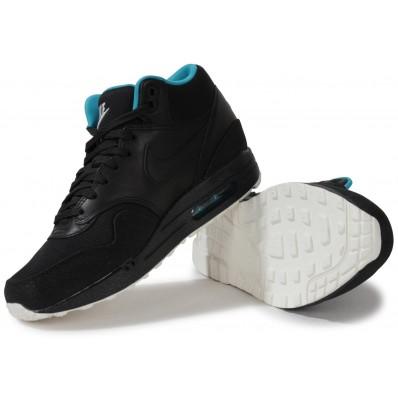 basket nike air max 1 mid fb noir