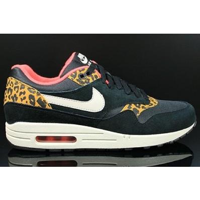 Nike Air Femme Max 1 Noir Leopard Or Chaussures Y2ID9WEHe