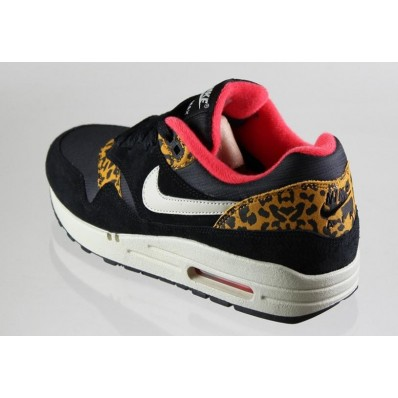 nike air max 1 leopard zwart