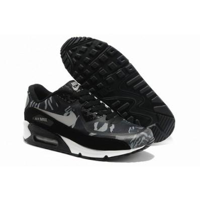 Nike Air Max 90 Homme Chaussures Noir Blanc Dune