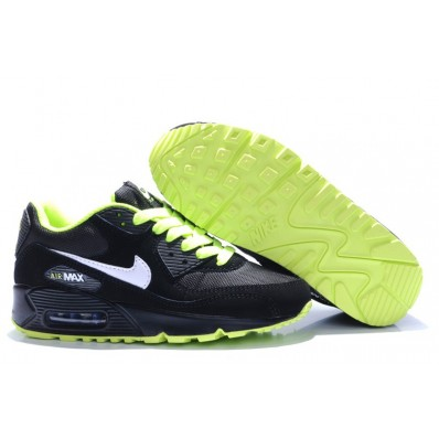nike air max 90 hommes chaussures de course noir blanc