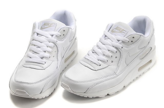 huge selection of 078f2 6e77d air max 90 blanche cuir