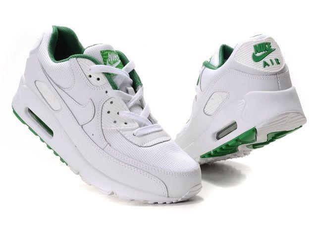 air max 90 blanche verte