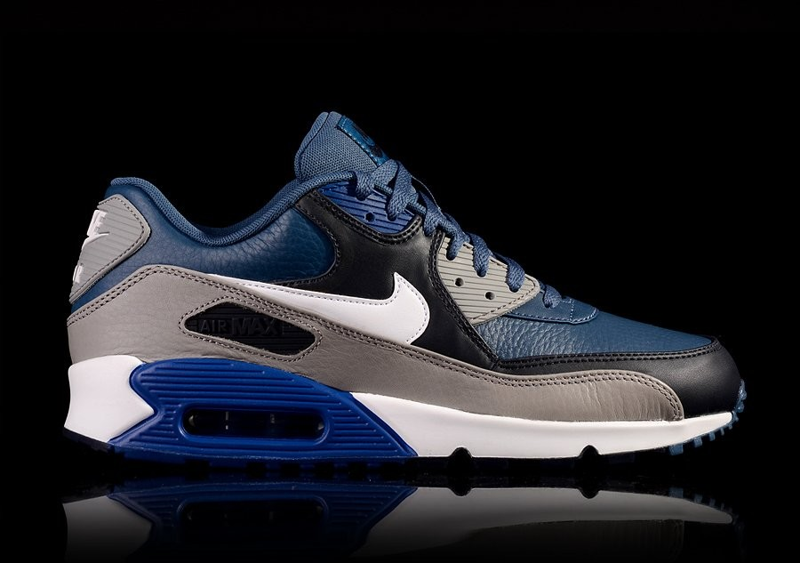 air max 90 leather bleu