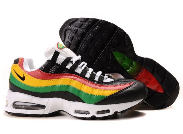 hot new products huge sale wholesale air max 95 vert jaune rouge