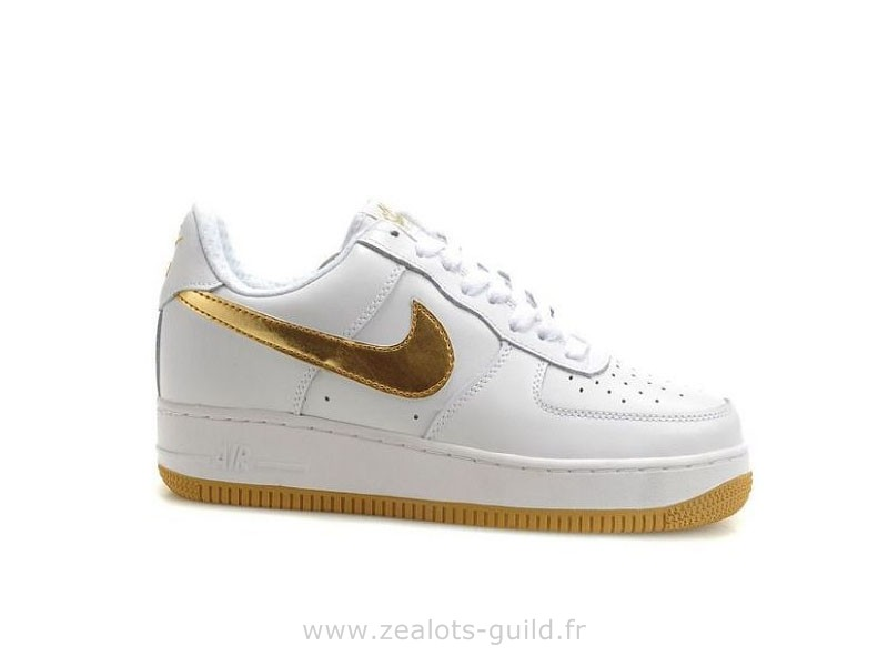 nike air force blanc dore