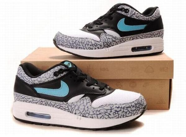 Nike Air Max 1 Safari Images Léopard Noir