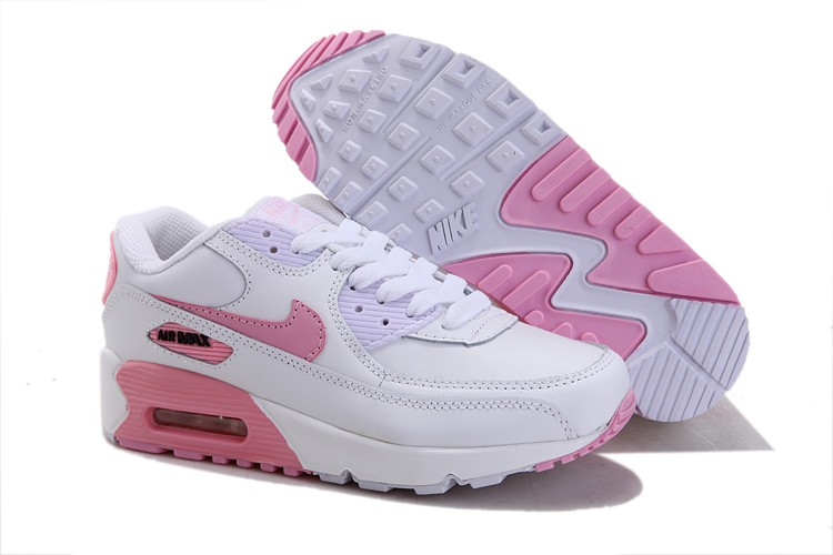 air max blanche rose