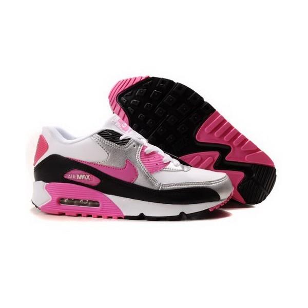 nike air max 90 femme chaussures blanc noir rose 2003