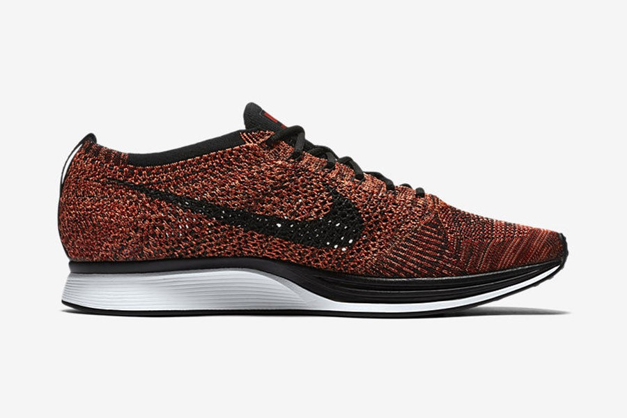 finest selection df5a3 7698a nike flyknit racer rouge