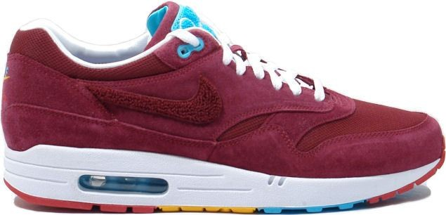 finest selection bcf33 7bebf parra x nike air max 1 bordeaux rood met turquoise