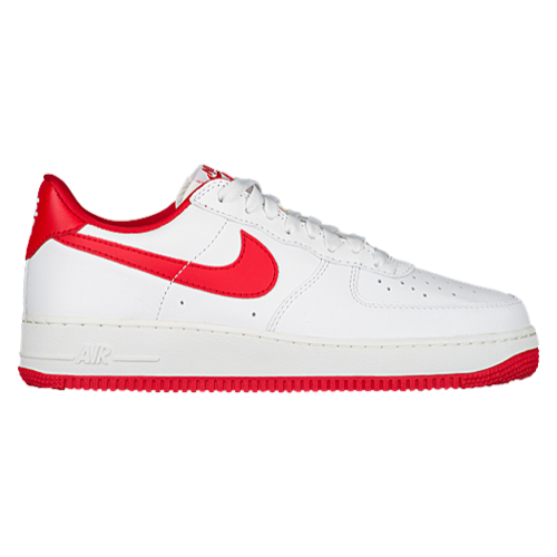 air force 1 retro, Nike Air Force 1 Low Retro - Men's - Basketball - Shoes - Summit White/University Red