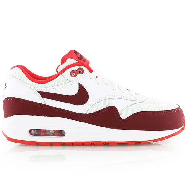 air max 1 rouge et blanc, nike WMNS AIR MAX 1 ESSENTIAL