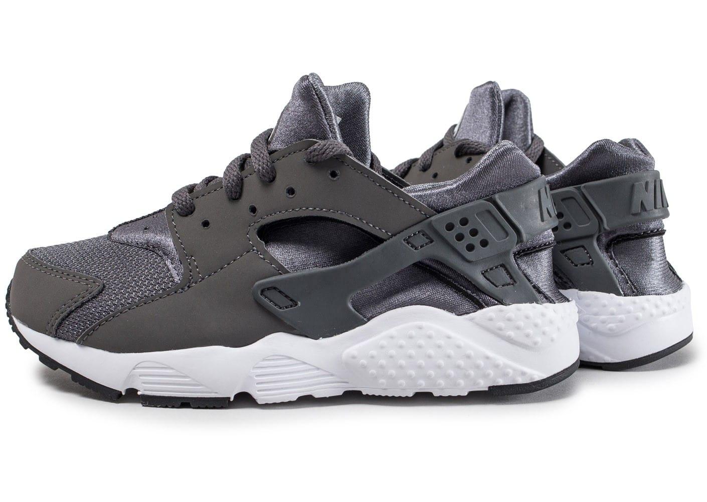 uk availability a4522 ffe31 basket enfant nike huarache, Cliquez pour zoomer Chaussures Nike Air  Huarache Run enfant anthracite vue