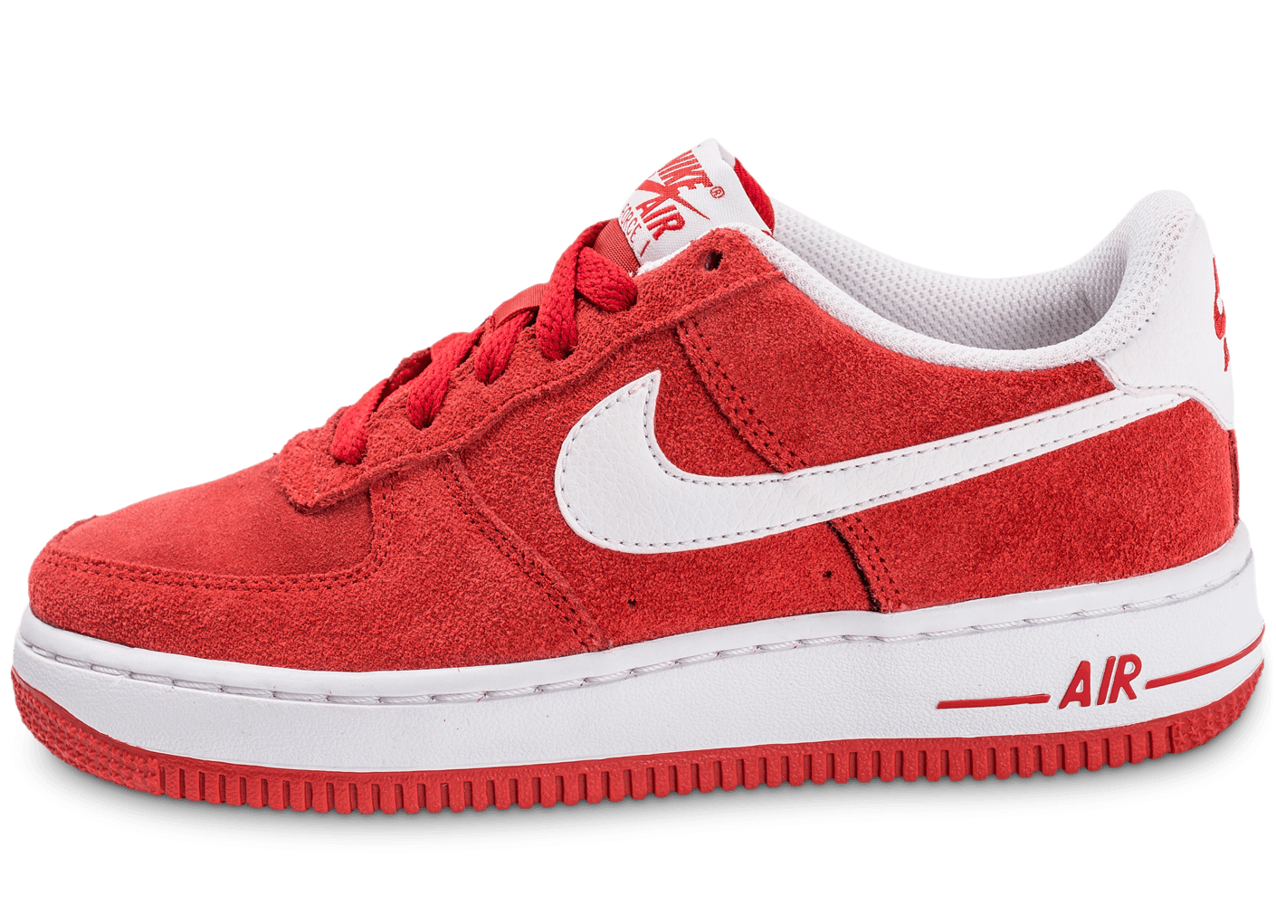 newest ae186 b991b nike air force 1 rouge, Soldes Nike Air Force 1 Suede Junior rouge -  Chaussures