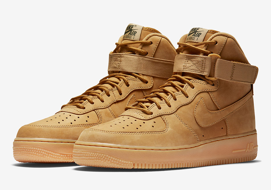 "nike air force 1 wheat, Updated on September 19th, 2017: The Nike Air Force 1 High ""Flax"" releases on October 14th, 2017 for $140."