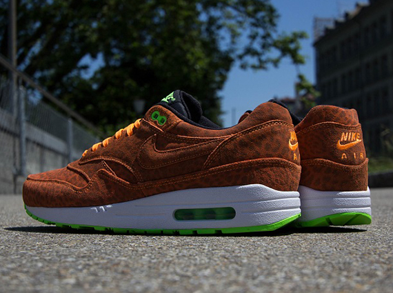 nike air max 1 fb orange leopard buy