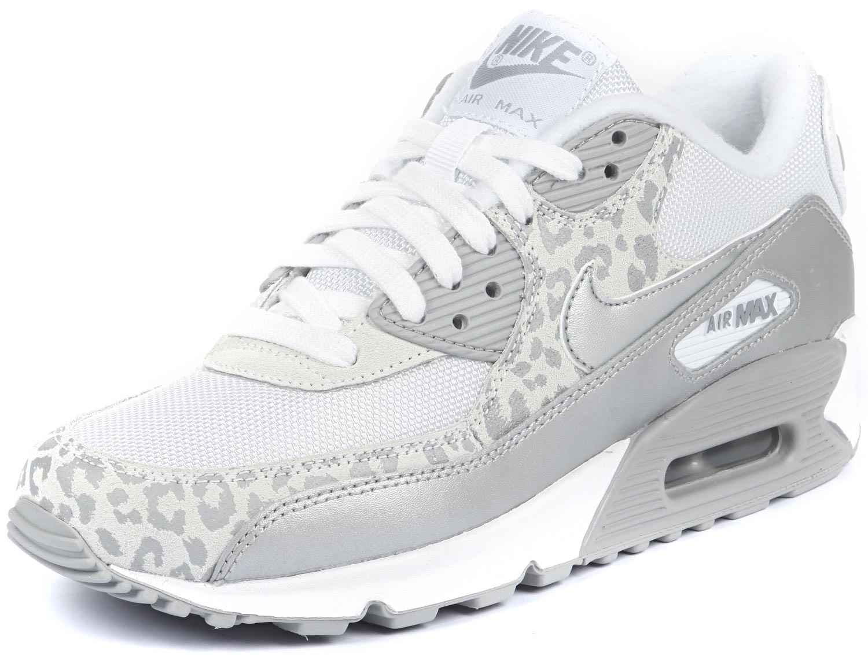 online store a382d 64e1d femme nike air max 90 chaussures blanc gris argent
