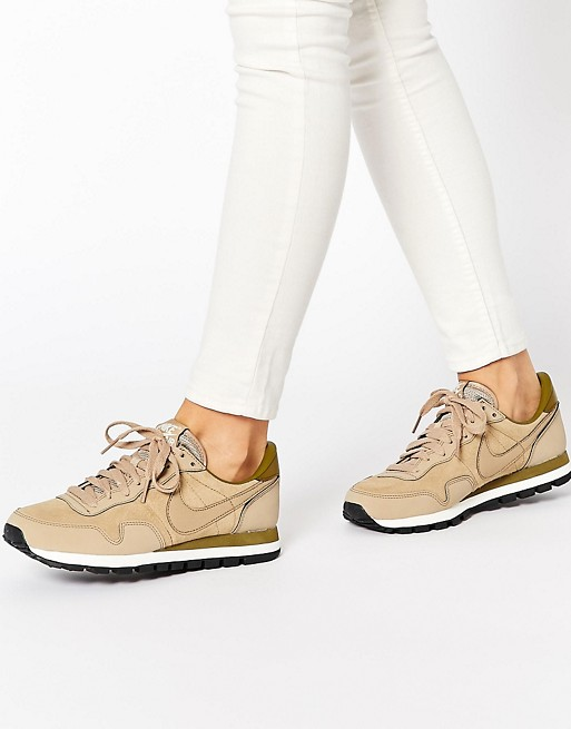 nike air pegasus 83 beige leather sneakers,