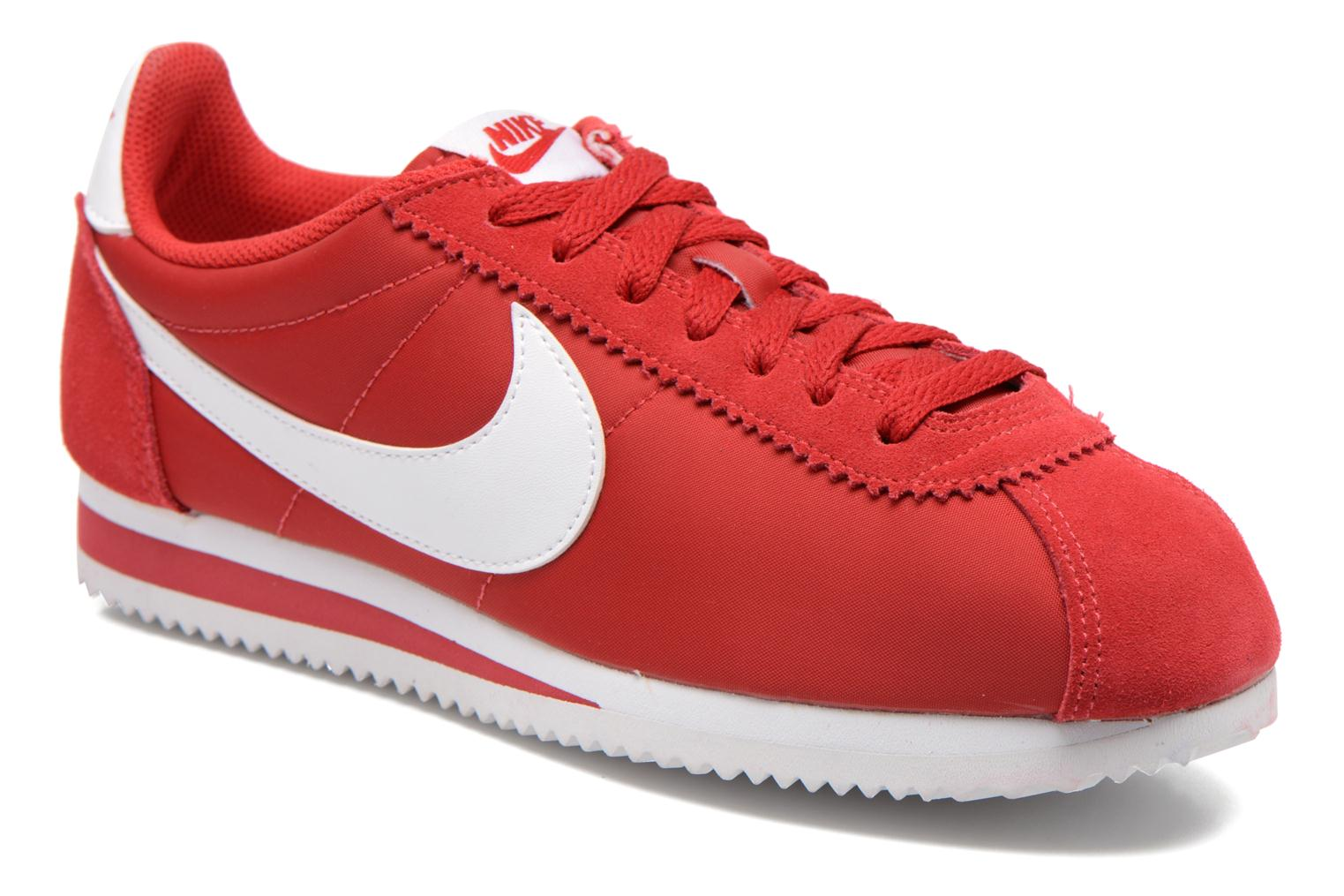 nike classic cortez rouge, Classic Cortez Nylon Gym Red/White