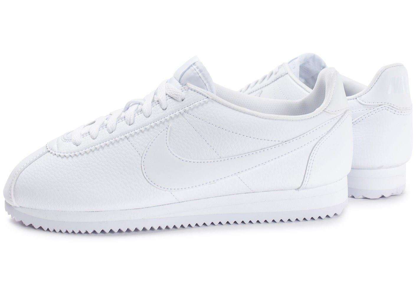wholesale dealer f0791 d7c90 nike cortez homme blanche, Cliquez pour zoomer Chaussures Nike Cortez  Leather blanche vue extérieure .