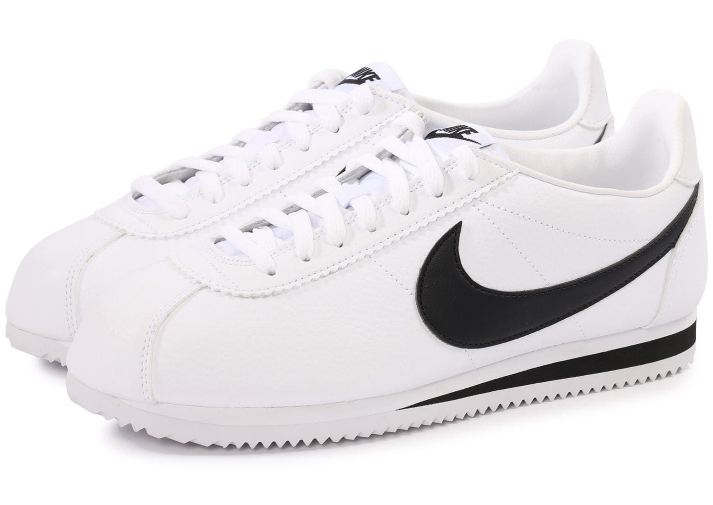 info for bdf18 5d31f nike cortez noir et blanc, Cliquez pour zoomer Chaussures Nike Cortez  Leather blanc noir vue