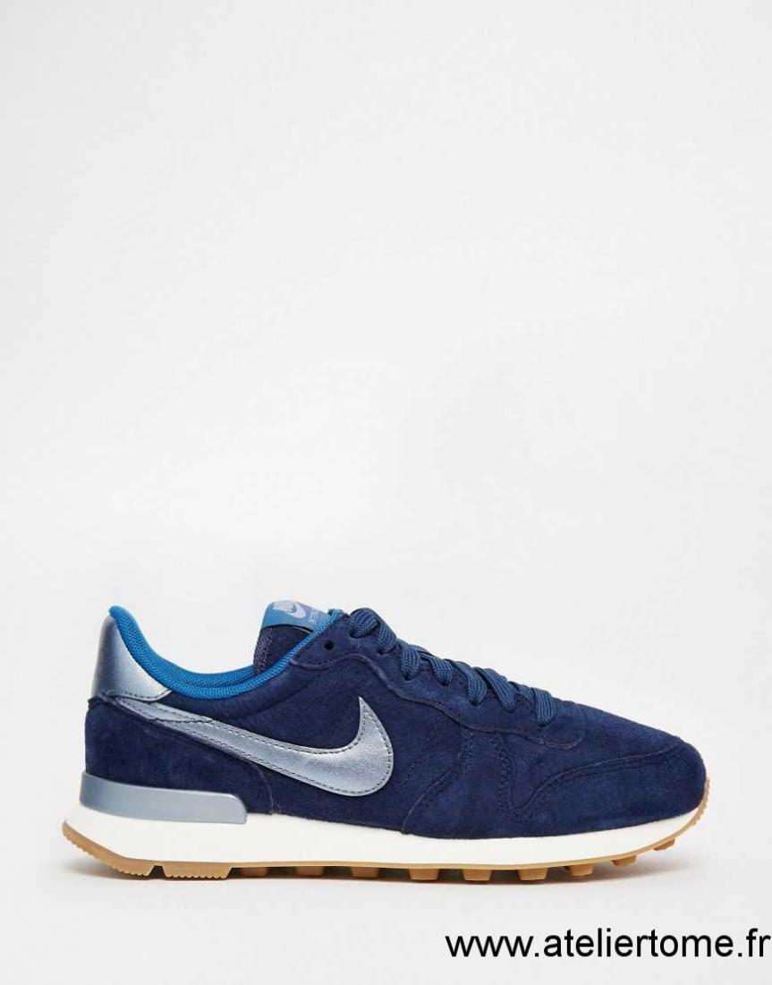 buy popular abb53 cd9db nike internationalist premium bleu marine, PQHU803123 2016 Bleu Marine - Femme  Nike - Internationalist Premium