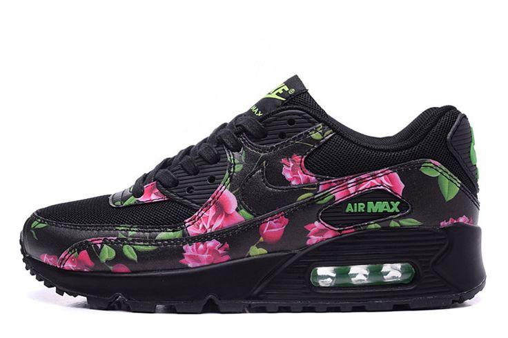 d49efe870d0 wmns nike air max 90 femme rose noir floral